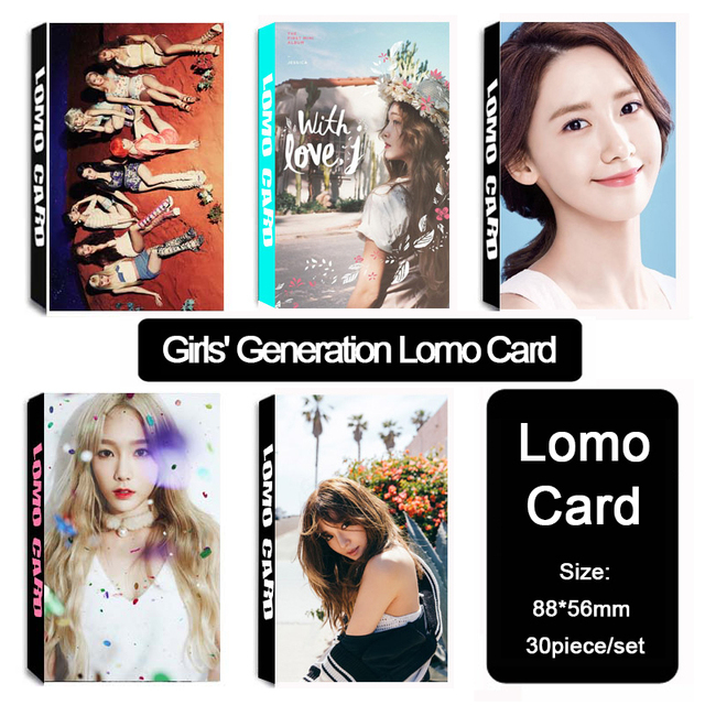 US $11 7 |Aliexpress com : Buy k pop Girls' Generation KPOP Fan SNSD SOSI  Taeyeon Jessica Yoona Pany Jung Soo Yeon Self Made Album LOMO Card  Photocard