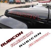 """2 sztuk Sport osłona silnika Fender Side """"Rubicon"""" znak naklejka naklejka Vinyl dla Jeep Wrangler Unlimited TJ JK w Naklejki samochodowe od Samochody i motocykle na"""