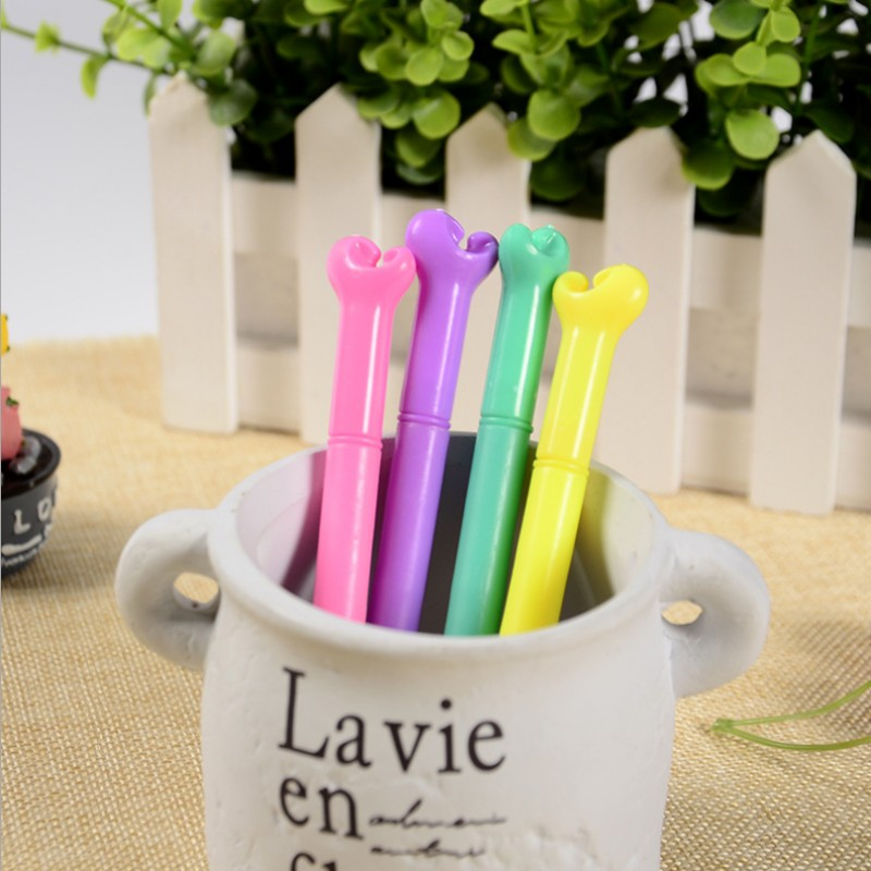 4 pcs/lot Cute Color bone gel pen writing pens stationery caneta material...