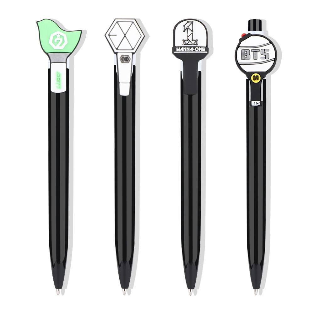 Korean Bts Blackpink Exo.itzy.txt Gel Pen Kawaii Bangtan Boys Black Ink Gel Pen Fans Gifts With Cute Photo Stationery Supplies Discounts Price Gel Pens