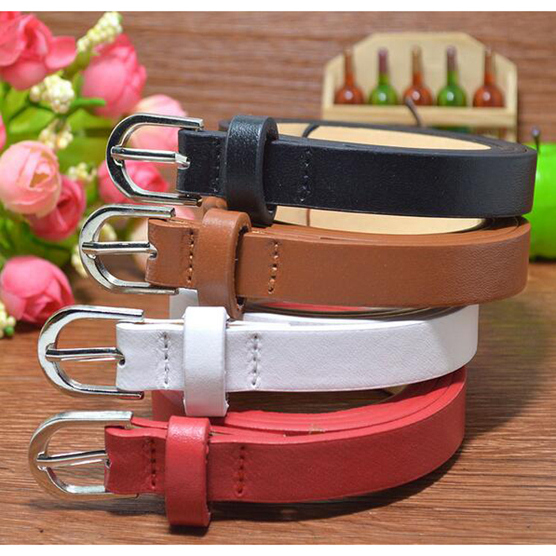 HOT 2017 New hot sale designer kids PU leather belts children boys girls Letter buckle Leisure waist strap 1.4CM