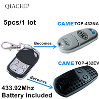 5pcs 4 channel Copy CAME TOP 432NA Duplicator 433.92 mhz remote control Universal Garage Door Gate Key Fob Clone fixed code