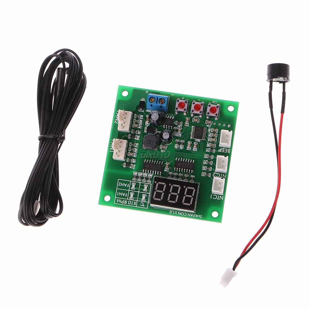 Two Way Heat Dissipation PWM Four Wire Fan Temperature Speed Controller Board May Drop shipTwo Way Heat Dissipation PWM Four Wire Fan Temperature Speed Controller Board May Drop ship