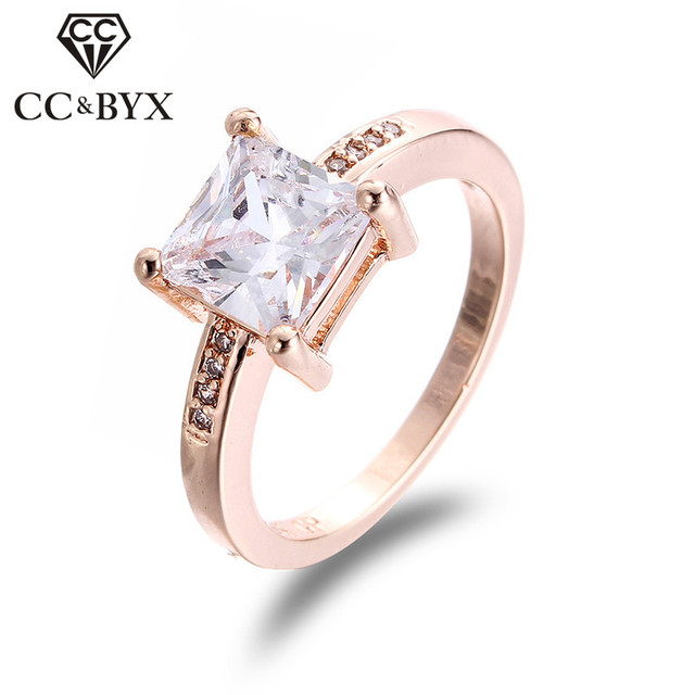 Rose Gold Color Rings For Women Finger Rings Ladies Nice Jewelry