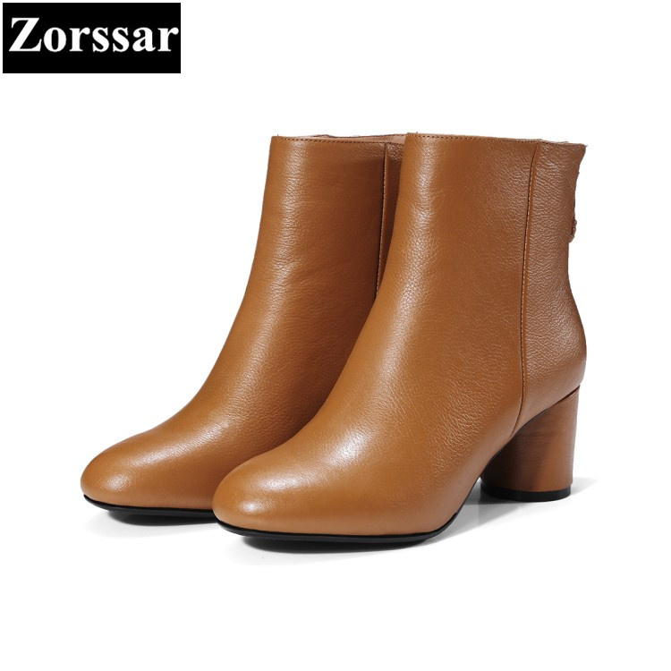 {Zorssar} 2018 new arrival Large size Women shoes Thick heel zipper ankle Knight boots High heels womens boots winter , brown zorssar brands 2018 new arrival fashion women shoes thick heel zipper ankle chelsea boots square toe high heels womens boots