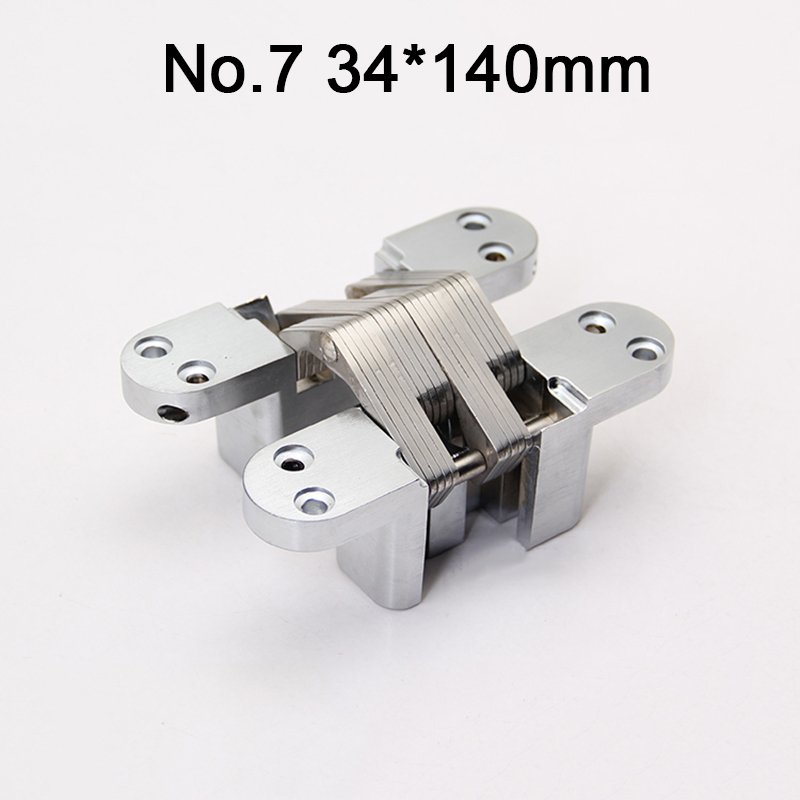1PCS Stainless Steel Hidden Door Hinges Invisible Concealed Cross Hignes 34x140mm Load 60KG For Fold Hidden Door1PCS Stainless Steel Hidden Door Hinges Invisible Concealed Cross Hignes 34x140mm Load 60KG For Fold Hidden Door