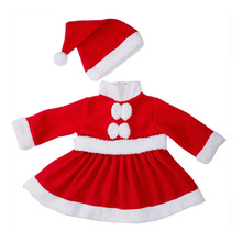 baby costume set 0 2y santa elf climb clothes sets boys gilrs christmas rompers overalls roupas santa claus jumpsuits and hat Newborn Baby Clothes Baby Girls and Boys Clothes Christmas Red and White Party Dress Hat Santa Claus Hat Sliders