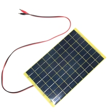 BUHESHUI 10Watt 18V Polycrystalline Solar Panel 1M Cable For 12V Battery Charger Diy Solar Charger System