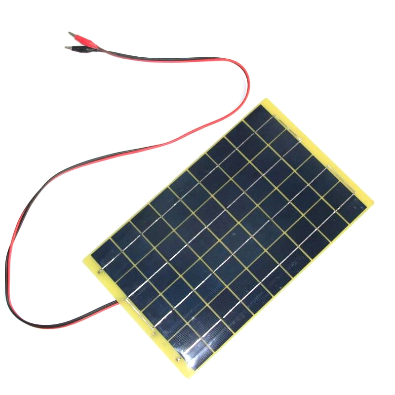 BUHESHUI 10Watt 18V Polycrystalline Solar Panel+1M Cable For 12V Battery Charger Diy Solar Charger System+Diode Free Shipping