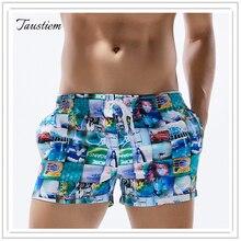 Бренд taustiem, мужские купальники, пляжные шорты для серфинга, трусы-боксеры, морские повседневные шорты, быстросохнущие Короткие Брюки с карманами