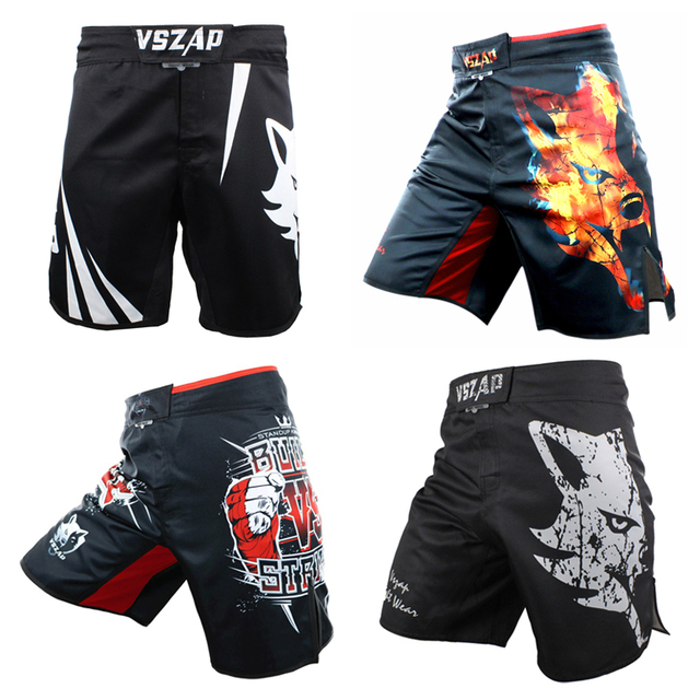 US $18 97 9% OFF|VSZAP MMA Boxing Shorts Man In Boxing Trunks Muay Thai  Boxing Sports Tatami Explosion Fighting Wolf Combat Shorts T $-in Boxing