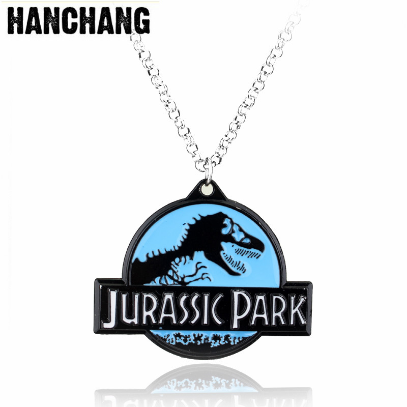 Sci-fi Adventure Movie Dragon Genetic Necklace Jurassk Park Dinosaur Pendant Cosplay Necklace Chain Jewelry Movie Fans Gift image