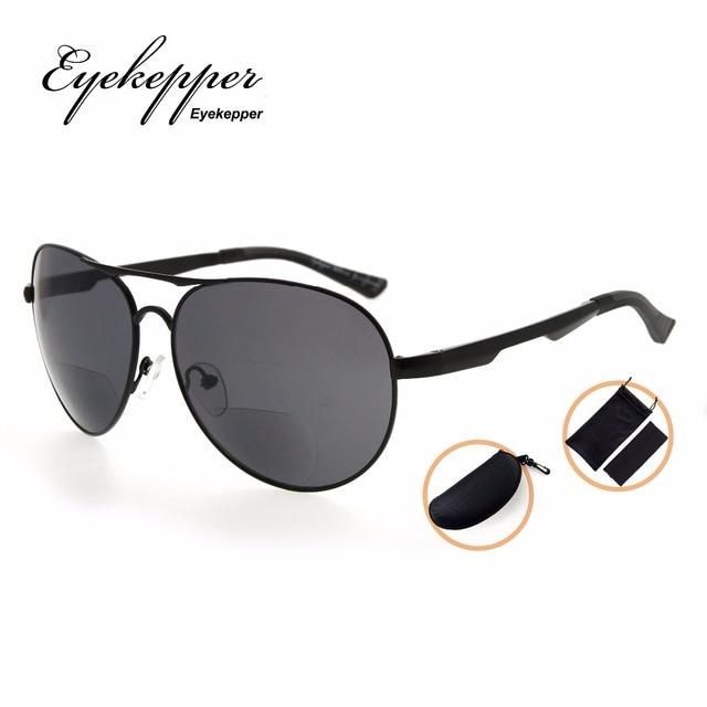 a4de1a07cd PGSG803 Eyekepper Polycarbonat Polarisierte Bifokale Sonnenbrille Pilot  Stil Bifokale Sonne Leser Outdoor Lesebrille + 1
