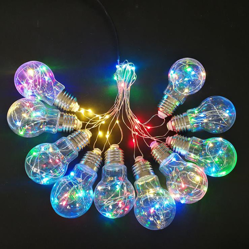 10X  LED String Light 10pcs/set 110V-220V  Holiday String Lighting 3 Colors Christmas Lights Party Outdoor Decoration high quantiy 28 ball led 5m string light for christmas xmas holiday wedding party decoration fashion holiday light 8 mode work