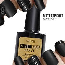 Azure 8ML Matte Top Coat UV Gel Led Top Coat Nail Gel Polish Long Lasting Matt Top Gel Vernish Nail Lacquers Led Lamp Glue