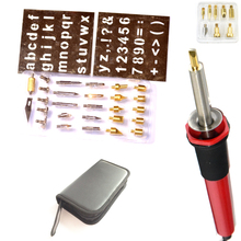 free shipping 30W 40 PCS Kit Tool Set Firewall Firewood Electric Welding Tips Hobby Craft Pen soldering iron3