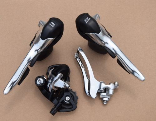 Bicycle Microshift Groupset SB-R492 STI Shifters 9 Speed Double Chain Derailleur FD-R52F+RD-R42S Compatible for Shimano sram