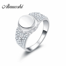 AINOUSHI New Men's Ring Jewelry wholesale Solid 925 Sterling