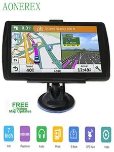 Image 1 - 5 inch HD CarGPS Navigator FM Bluetooth 256BM + 8G Navitel 2019 latest European map satellite Navigatlon truck GPS navigation ac