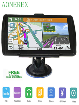 5-inch HD CarGPS Navigator FM Bluetooth 256BM + 8G Navitel 2019 latest European map satellite Navigatlon truck GPS navigation ac