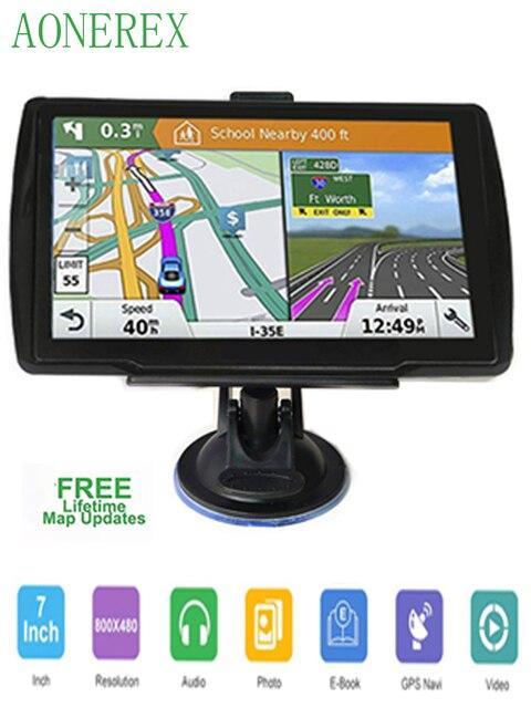 5 inch HD CarGPS Navigator FM Bluetooth 256BM + 8G Navitel 2019 latest European map satellite Navigatlon truck GPS navigation ac