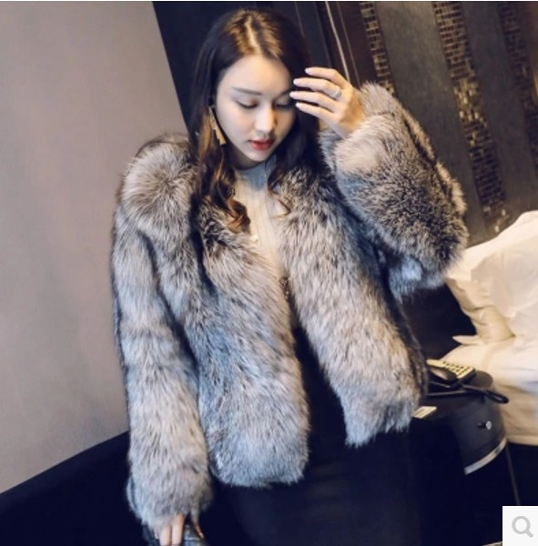 De La Outwear Aw271 Pardessus En Peluche Taille Fourrure Plus Manteau Furry Vetement Renard Sauvage Épaisse Femmes Imitation Faux 2018 SqvxwS6d7U
