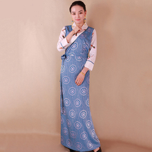 New Spring autumn Chinese traditional costume tibet long robe elegant grown tang suit national dress women ethnic clothing