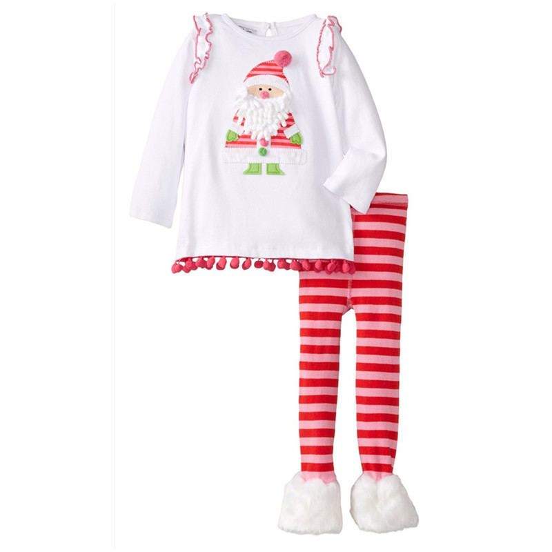 ФОТО Baby Girls' Toddler Tracksuit Pyjamas Set New Year Winter Christmas Outfit Floral Comfortable Top Blouse And Pants