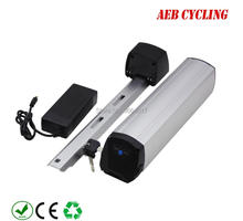 цена на Free shipping and taxe to EU US China Ebike Lithium ion 36V 10Ah slim down tube battery for fat tire bike city bike with charger