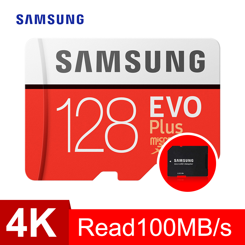 SAMSUNG Carte Mémoire micro sd 128 GB EVO Plus Class10 Étanche TF Memoria Sim Carte Trans Mikro Carte Pour téléphones intelligents 128 gb