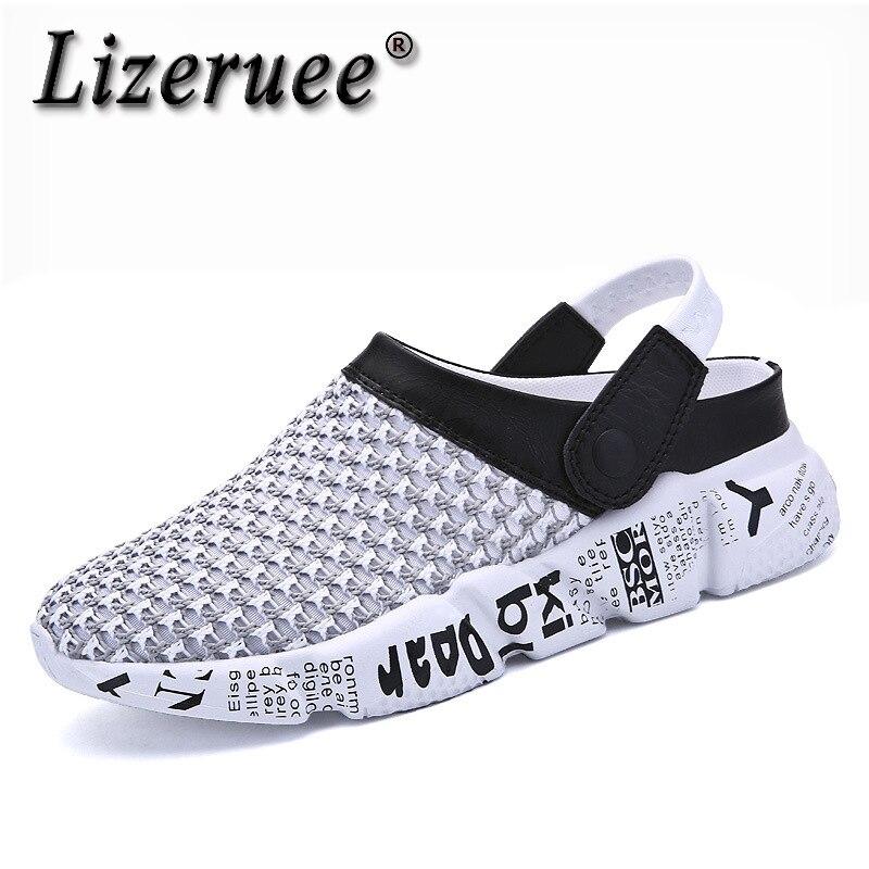 Size 39-46 Summer Mesh Shoes Men Sandals Beach Slippers Clogs Men Sneakers Clogs Men Zuecos Sandalias Zapatos Hombre