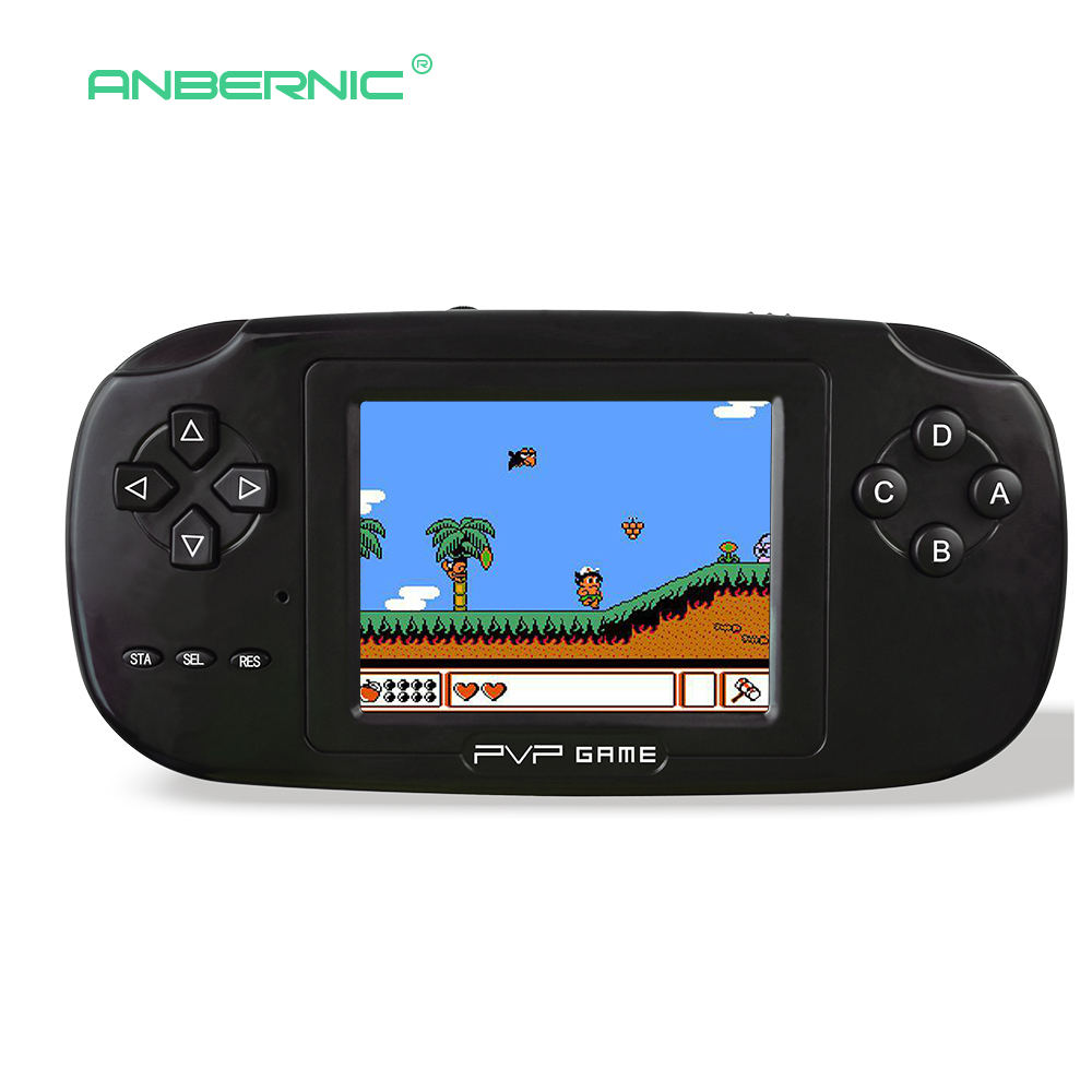 3 Inch Childhood Portable Handheld Game Console 8 Bit Video Game White Mini Retro Game Console for Children Gift PVP-GAME 08 5pcs set gb station light boy sp pvp handheld game player 8 bit game console bulit in 142 games 2 7 lcd retro style gaming