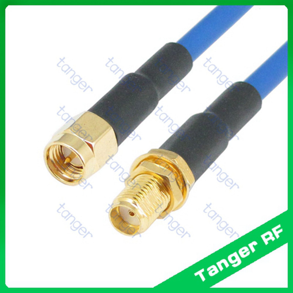 High quality SMA male to female jack straight with RG402 RG141 RG-402 Blue RF Coax Jumper 20inch 50cm Semi Flex Low Loss cable tanger n to sma male plug straight connector with rg402 rg141 rg 402 coaxial jumper semi flex cable 8in 8 20cm rf low loss coax
