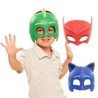 High Quality PJ Cartoon Mask Toy Les Pyjamasques Children Cosplay Mask Connor Greg Amaya Jouet Christmas