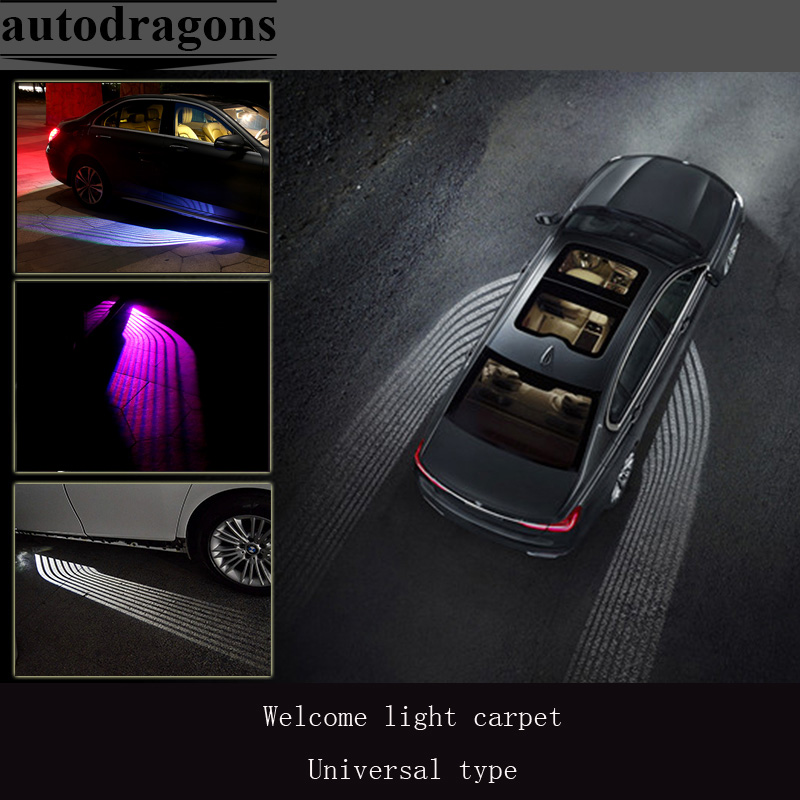 2*Car welcome light carpet for b-mw 7 series for all car LED Ghost Shadow Angel Wings Projection lamp  underbody atmsphere light drone x pro