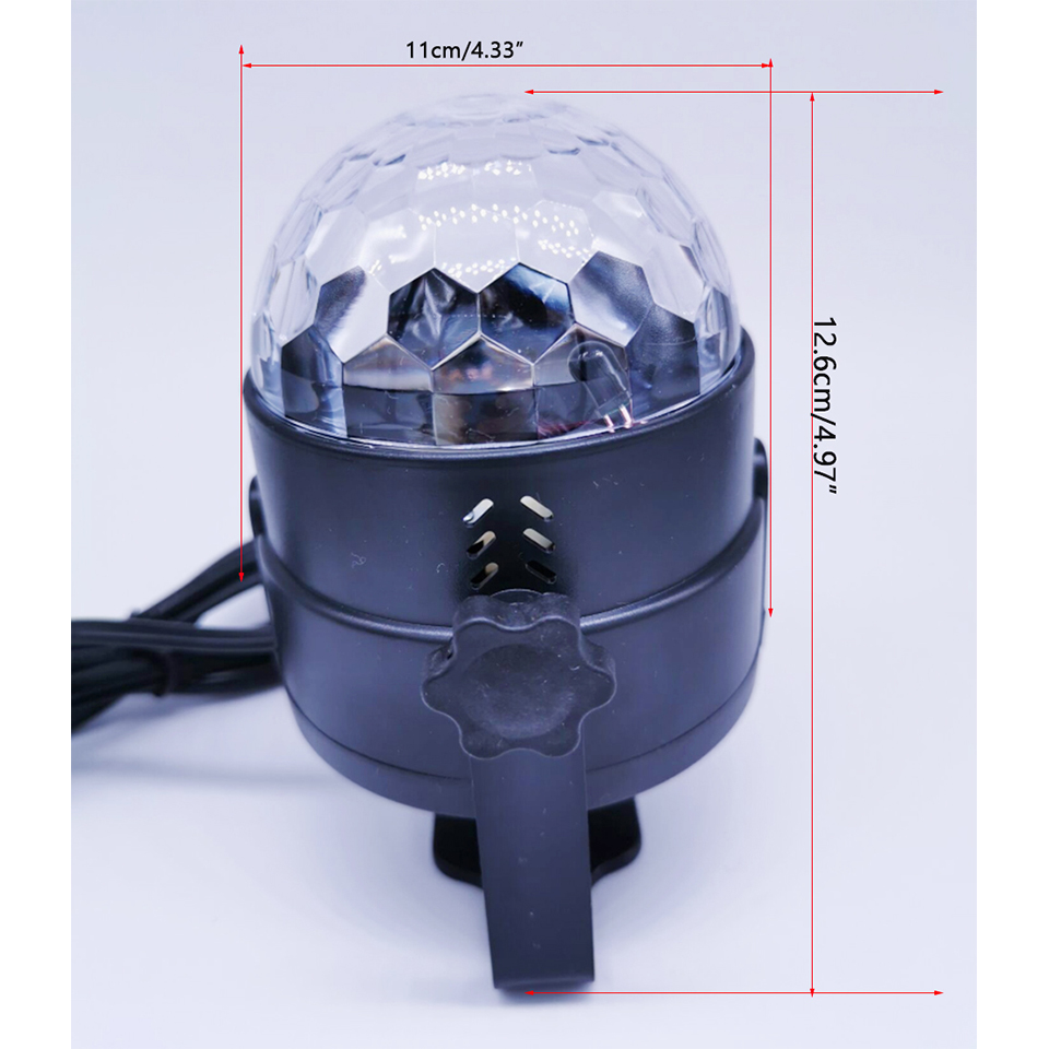 Image 3 - 3W  Led Disco E27 Light Stage Lights Ball Sound Activated Laser Projector effect Lamp Light for home Christmas party decoration-in Stage Lighting Effect from Lights & Lighting on