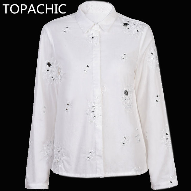 White Beaded Shirt