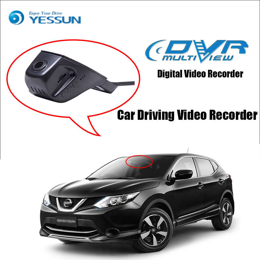 YESSUN for Nissan Qashqai Car DVR Driving Video Recorder Mini Control APP Wifi Camera Registrator Dash Cam Night Vision