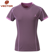 VECTOR Summer Quick Dry T-shirt Women Breathable Outdoor Sports Shirt Women Running Mountain Camping Hiking T-shirts 10012