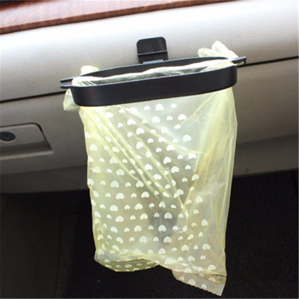 Car Styling Trash Bag Holder 40Pcs Organizer Garbage Rack Hanger Rubbish Bin Vehicle Frame Accessories In Stowing Tidying From