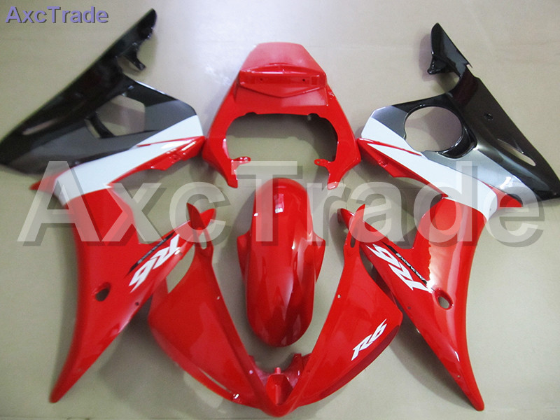 Red Moto Fairing Kit For Yamaha YZF600 YZF 600 R6 YZF-R6 2003 2004 2005 03 04 05 Fairings Custom Made Motorcycle Bodywork C758 motorcycle part front rear brake disc rotor for yamaha yzf r6 2003 2004 2005 yzfr6 03 04 05 black color
