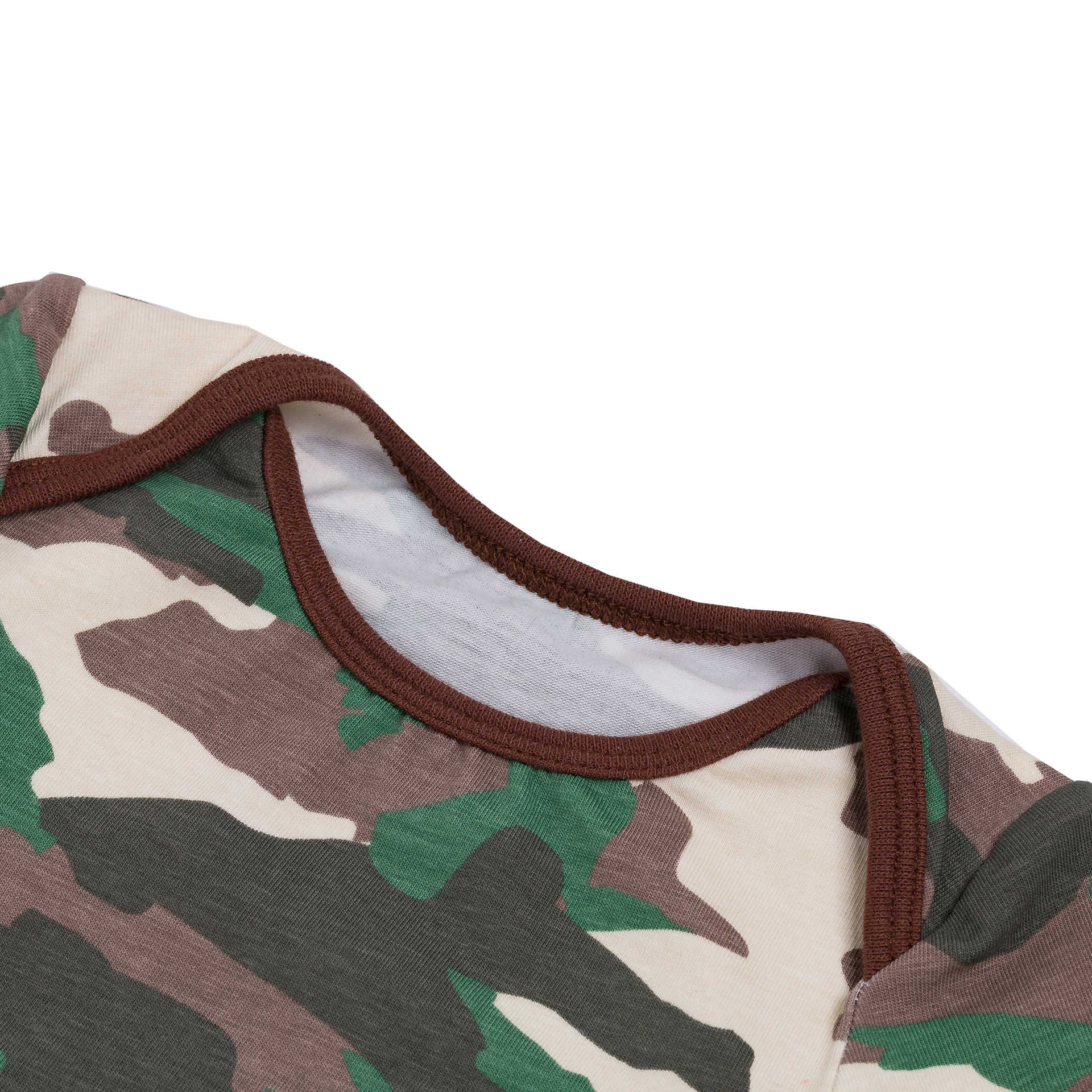 New - style cartoon camouflage baby clothes crawl clothes baby clothes children's wear summer men and women