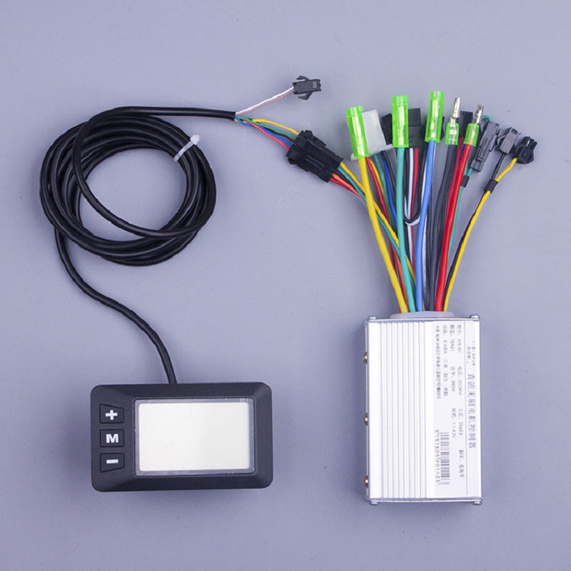 E scooter kit 250W 350w 24V 36V 48V DC Mode Brushless Engine Motor Controller with LCD For Electric Bicycle Tricycle E bike цена и фото