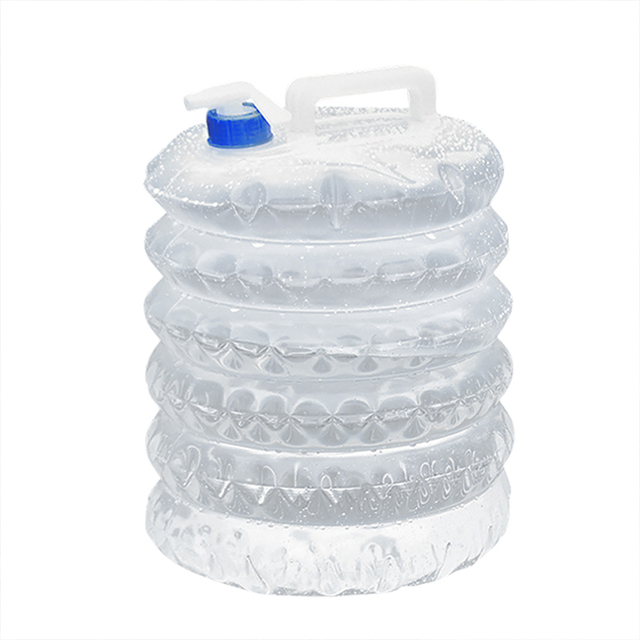 *Outdoor Water Bucket Folding Water Bag Storage 5/10/15L Foldable PE Plastic Food Grade Water Bottle Container Camping Survival* 1