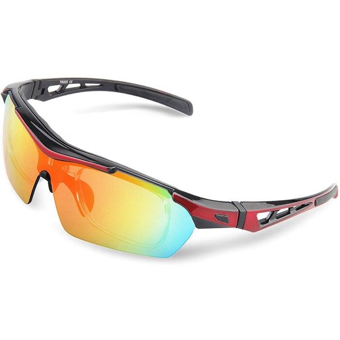 Prix pour Sport hommes vélo lunettes de soleil de cyclisme sur route lunettes de vélo de montagne vélo équitation lunettes de protection lunettes 5 Lentille