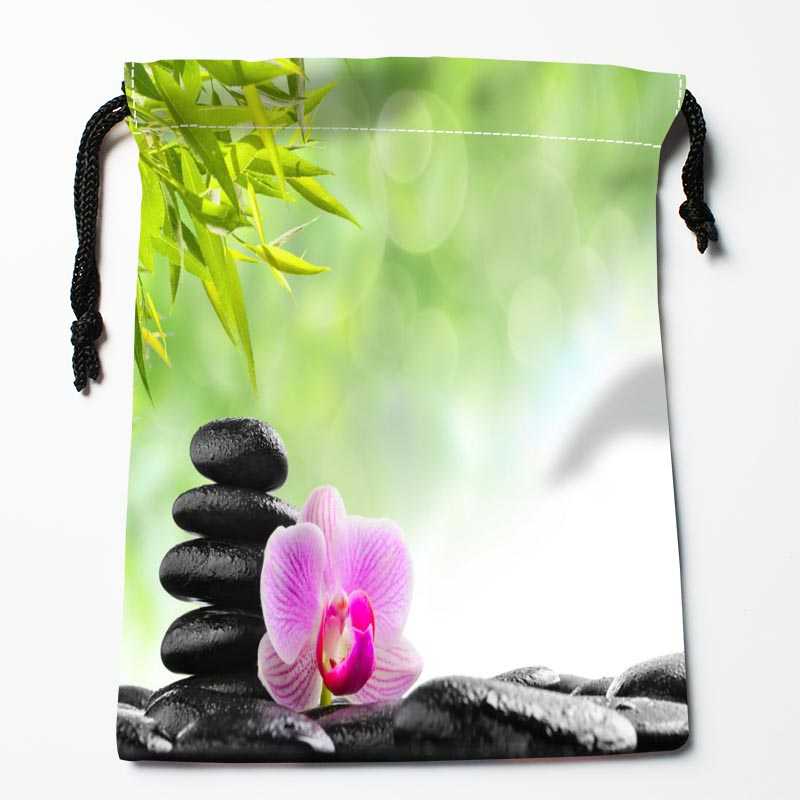 New Arrive Stone And Flower Drawstring Bags Custom Storage Bags Printed Gift Bags More Size 27x35cm DIY Your Picture