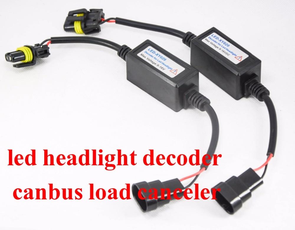 Galaxy Autoparts 9005 HB3 LED Bulbs Headlight DRL No Error Load Resistor No Flickering Decoder 2PCS