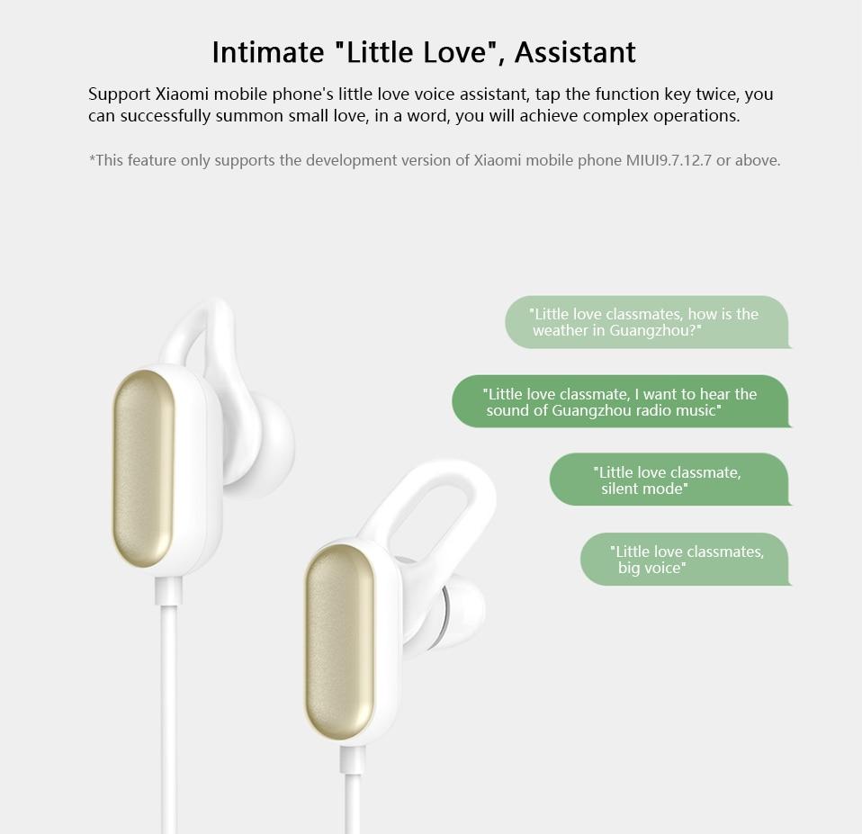 Xiaomi Sports Earphone Bluetooth 4.1 Youth Edition Version Headphones Wireless Bluetooth Headset running AI Control Mi Headsets (9)