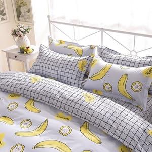 Image 4 - Banana Duvet Cover Bedding Set Bed Sheet Single Full Queen King Size 3/4PCS Bedclothes