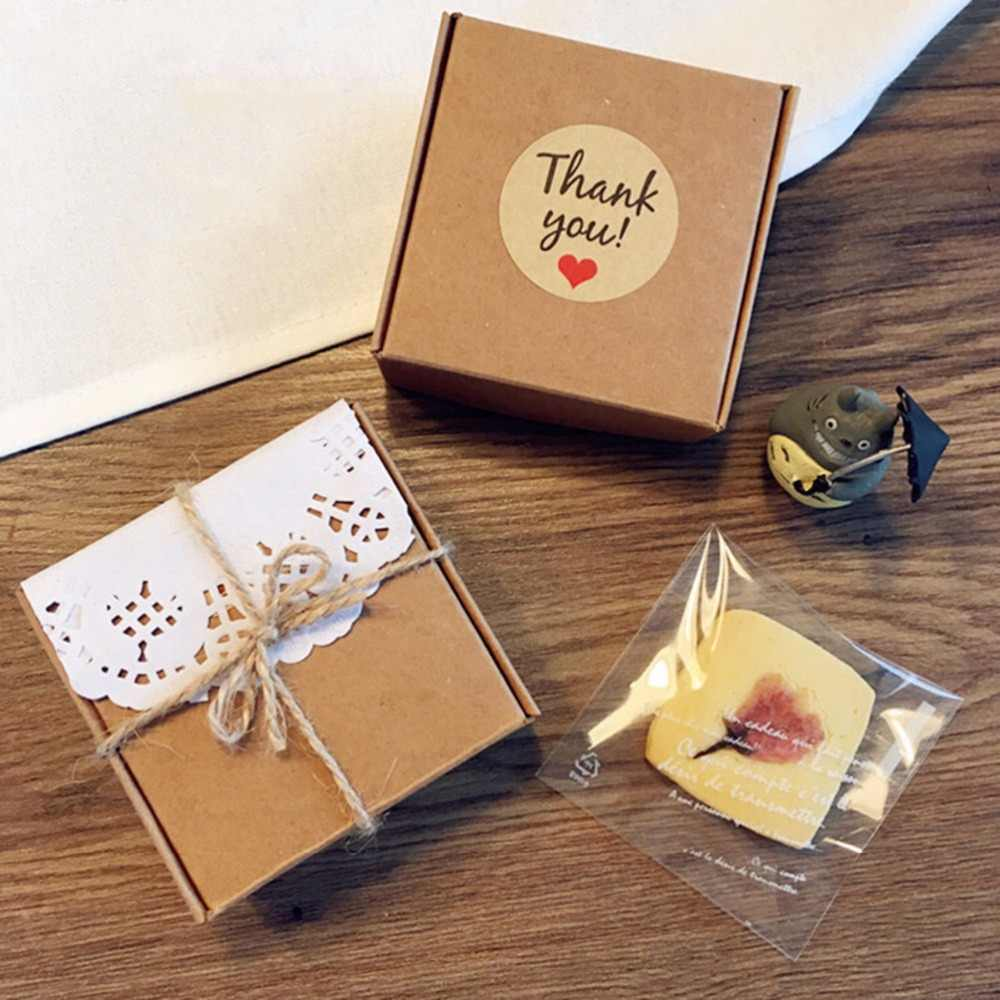 Party Supplies Wedding Decor Cards Kraft Stickers Tag Package Label Thank You